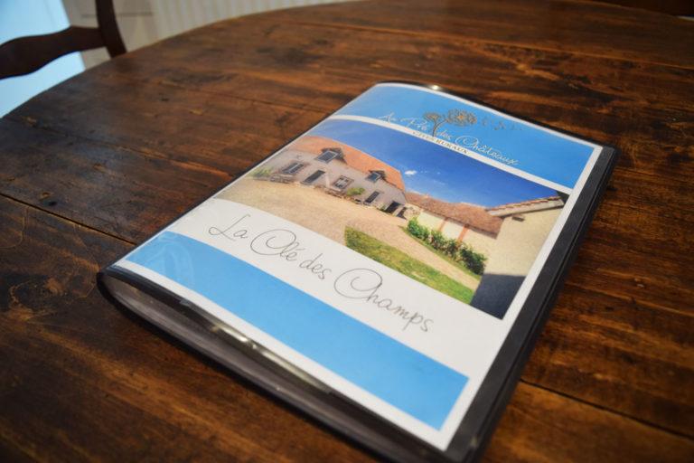 Livret d'accueil - Gîtes Châteaux de la Loire Blois Chambord Cheverny Beauval